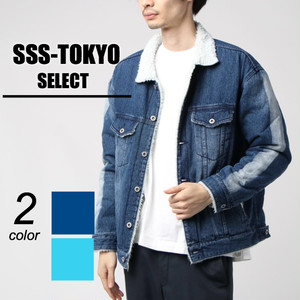 CLOUD NINE / sleeve line boa denim jacket