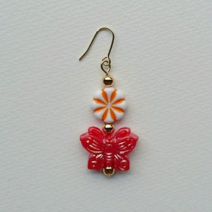 china butterfly pierce(red)