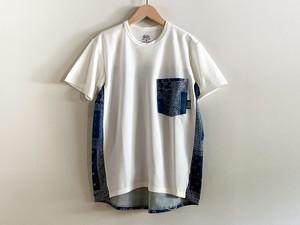 ranor(ラナー) BANDANA T-SHIRT メンズ・レディース 半袖Tシャツ WHITE/NAVY
