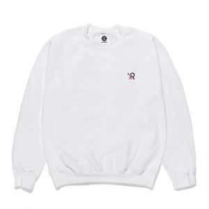 受注商品 RUEED LOGO EMBROIDERY CREW NECK SWEAT SHIRT / WHITE