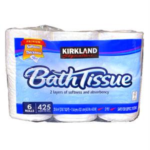 コストコ カークランドシグネチャー バスティッシュ 6ロール(1パック) | Costco Kirkland Signature bath tissue 6 rolls (1 pack)