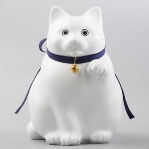 へそくりの招き猫 弍号白丸 / Manekineko Bank Second Model fat White