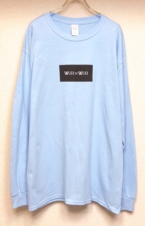 Will×Will BOX LOGO long T-shirts 【Light Blue】