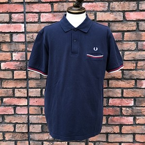 Fred Perry Tipped Pocket Polo Shirt Navy Large