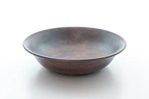 白拭き漆 深皿(中)
