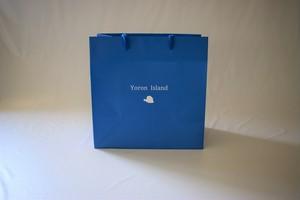 ヨロン島紙袋 小(ブルー)