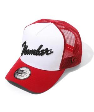 NUMBER (N)INE×NEW ERA_number⑨_MESH CAP  RED×WH