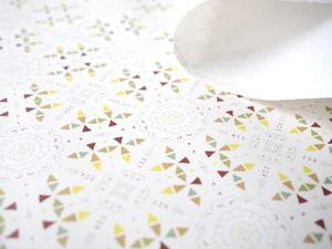 石の素材ハクアを使った包装紙[ブラウンパターン] B2サイズ 4枚