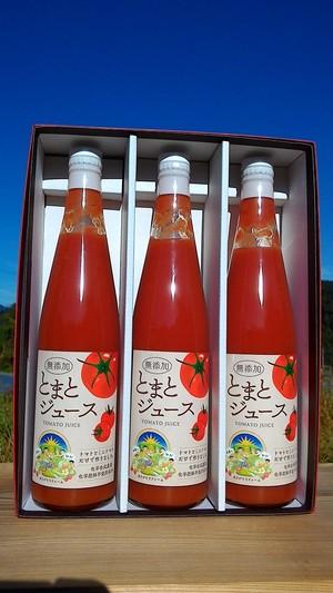 根強いリピーターに愛されています。完熟の旨味!トマトジュース500ml×12本入り 糖度8以上!! 有機トマト&ミニトマト