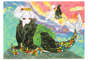 2009年「お江戸の人魚姫」絵はがき 大きいサイズ