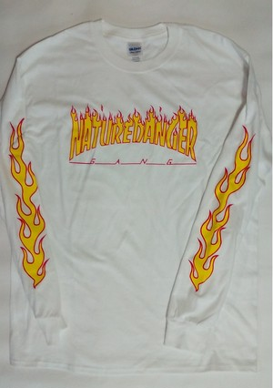 NDG - Fire Long Sleeve T-Shirt White