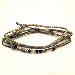 Wakami-Anklet Purple Gray