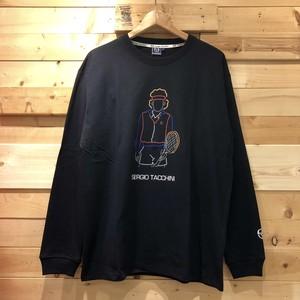 【1点までゆうパケット送料無料】Sergio Tacchini セルジオタッキーニ プリント 長袖Tシャツ ロンT