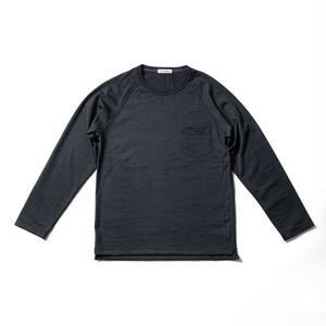 WOOL-LONGSLEEVE-Tshirt チャコールグレー