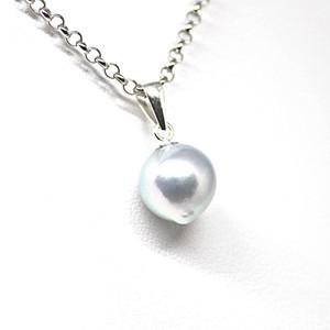 20%off【訳あり!】9.25㎜!あこや本真珠のしずくのネックレスH