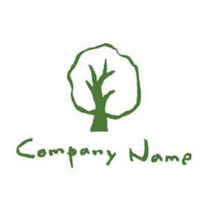 木と手の優しいナチュラルロゴ