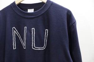 """NU""メッセージTシャツ / ネイビー"