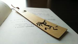 青森ヒバ 木製しおり/ブックマーク     ココペリ と 月