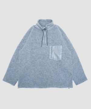 Allege Wool Fleece Half Zip P/O Gray AH19W-CT03
