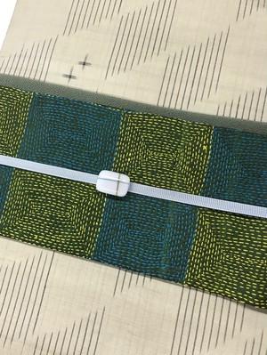 オリジナル名古屋帯(刺繍×久留米もめん)