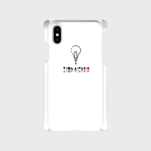 【X,8,7,SE】ロゴ(文字入り)iPhoneケース白