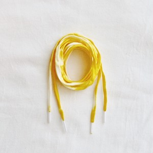TIE-DYE COTTON LACES [LEMON]