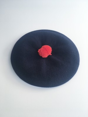 "MIND THE HAT ""Sailors Beret"" (Navy x Red)"