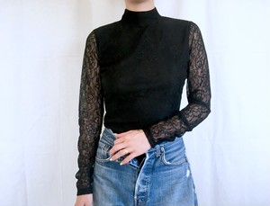 vintage black lace body suits