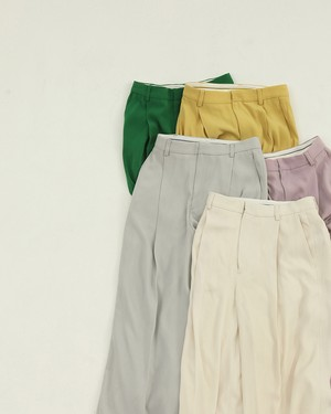 Georgette Rough Trousers 12010708 TODAYFUL