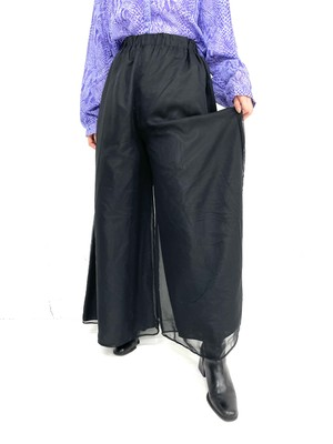 see-through design wide  pants / 3SSPT03-12