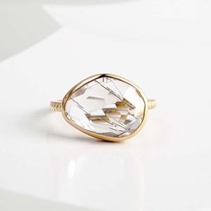 Silver Rutilated Quartz Ring(CR002-SR)
