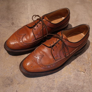 SAXONE Wingchip Leather Shoes サクソン ウィングチップ フルブローグ レザーシューズ