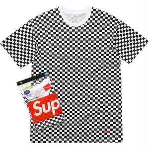 Supreme Hanes Checker Tagless Tee 2 Pack