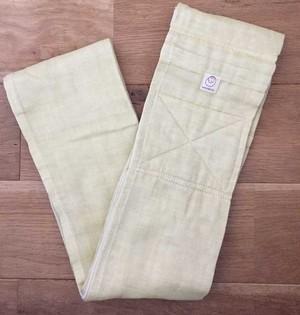 [おくるみスリング]新しく縫いあがりました! 綿二重ガーゼ/黄色
