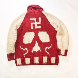 skull pattern cowichan sweater