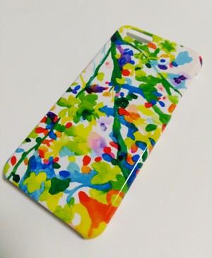"""""""緑の桜""""iphone/スマートフォンケース"""