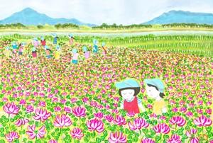 上越思い出フレーミング「Until the day I can meet with a smile」れんげ畑(吉川区)⑥
