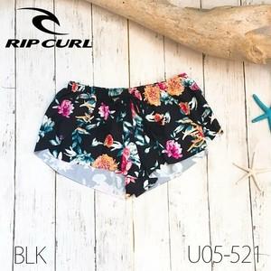U05-521 リップカール RIP CURL 水着 ボードショーツ キッズ ブラック 黒 花柄 かわいい ビーチ プール 海
