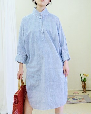 1960s Cotton shirt dress