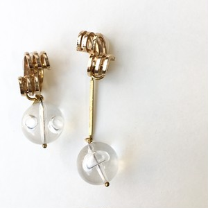 One of a kind earring - Clear bubbles No.706