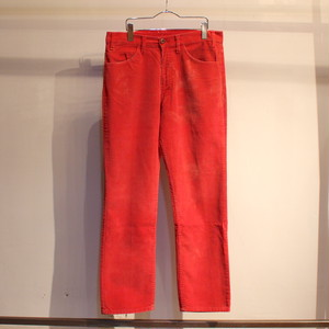 80s Levi's 519 corduroy pants ''RED'' / UB033