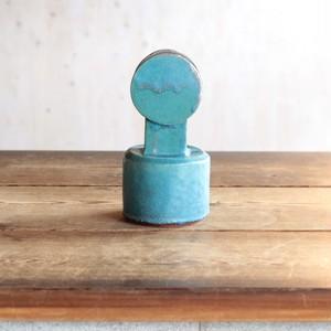 Circle Top Vase / Green