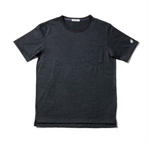 WOOL-BASE-Tshirt チャコールグレー