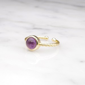 SINGLE MINI STONE RING GOLD 069