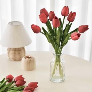 tulip 10P + vase SET 5colors / チューリップ 造花 花瓶 セット ベース 韓国 インテリア 雑貨