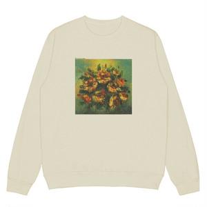 〈カフェシリーズ〉レトロ花柄プリントセーター【rétro flower print sweater】
