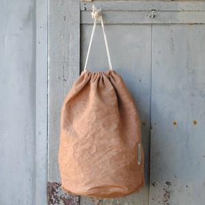 laundry bag 柿渋染め