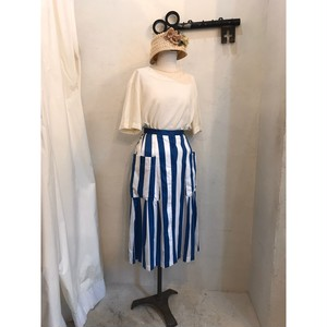 Christian Dior Sports スカート ストライプ ブルー×ホワイト ヴィンテージ