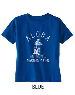 [KID] ALOHA RESURRECTION TEE -ROYAL-