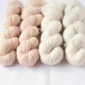 引き揃えセットE (Merino silk Lace+ Baby alpaca Lace)